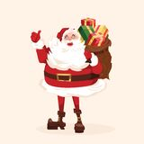 Santa character. Cartoon vector illustration. Royalty Free Stock Photo