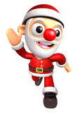 Santa character on Running. 3D Christmas Character Design Series Royalty Free Stock Photography