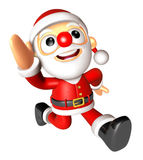 Santa character on Running to be strong. 3D Christmas Character Stock Image
