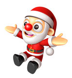 Santa character is welcome to sit. 3D Christmas Character Design Royalty Free Stock Photography