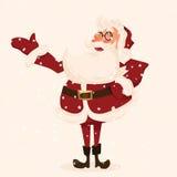 Santa charakter. Kreskówka wektoru ilustracja. Obrazy Stock