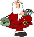 Santa che cattura le foto Fotografie Stock Libere da Diritti