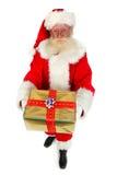 Santa che dà i presente fotografia stock