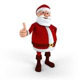 Santa che dà thumbs-up Immagine Stock