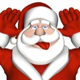 Santa che dà un lampone 2 Immagine Stock