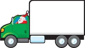 Santa che effettua una consegna illustrazione di stock