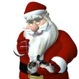 Santa che gioca con il gattino royalty illustrazione gratis