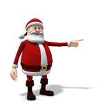 Santa che indica a sinistra Fotografie Stock Libere da Diritti