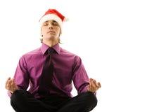 Santa che meditating Fotografie Stock Libere da Diritti