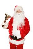 Santa che squilla Bell Immagine Stock