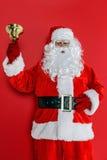 Santa che suona la sua campana Fotografia Stock Libera da Diritti