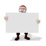 Santa che tiene grande segno Fotografia Stock Libera da Diritti