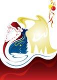 Santa che va affrettare stasera Illustrazione di Stock