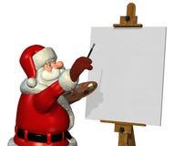 Santa che vernicia 2 Fotografie Stock Libere da Diritti