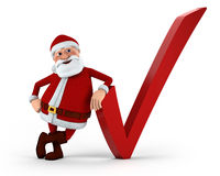 Santa with check mark Royalty Free Stock Photos
