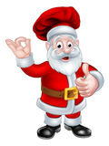 Santa Chef Christmas Cartoon Character Stock Photo