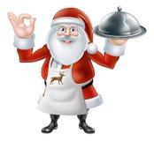 Santa Chef Christmas dinner 2015 E2 [Converted] Stock Photos
