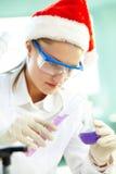 Santa chemist royalty free stock photography