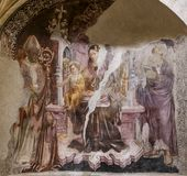 Santa Chiara church, Naples Italy Royalty Free Stock Images