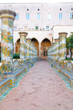 Santa Chiara cloister Royalty Free Stock Photos