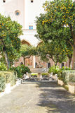 Santa Chiara cloister Royalty Free Stock Photography