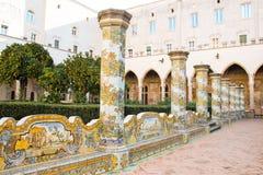 Santa Chiara cloister Royalty Free Stock Photo