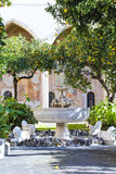 Santa Chiara kloster royaltyfri foto