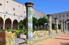 Santa Chiara is a religious complex in Naples, southern Italy Stock Photos