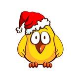 Santa Chicken divertente Immagini Stock