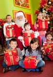 Santa with children Stock Photo