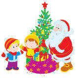Santa and children Royalty Free Stock Images