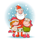 Santa and children. Stock Image