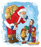 Santa with children Royalty Free Stock Images