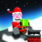 Santa Chimney royalty free stock photos