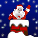 Santa in the chimney Stock Photography