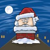Santa in Chimney Stock Images