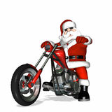 Santa Chopper 1 Royalty Free Stock Photography