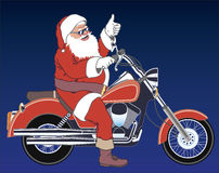 Santa chopper Royalty Free Stock Image