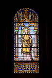 Santa Christina Stained Glass Window Stock Images
