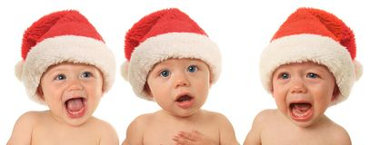 Santa Christmas babies Stock Photos
