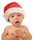 Santa Christmas baby. Talking to you Royalty Free Stock Photos