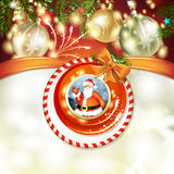Santa and Christmas ball Royalty Free Stock Photography