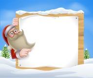 Santa Christmas Banner Photographie stock
