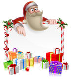 Santa Christmas Banner Royalty Free Stock Photography