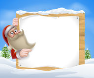 Santa Christmas Banner Stock Photography