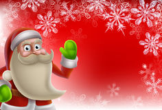 Santa Christmas Border Background Illustration Stock
