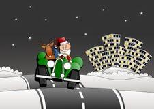 Santa Christmas car Royalty Free Stock Images