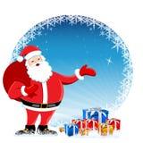Santa in christmas card Royalty Free Stock Photos