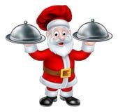 Santa Christmas Chef Character ilustração stock