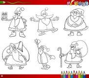 Santa on christmas coloring book Royalty Free Stock Photos